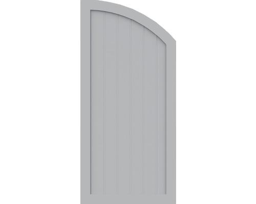 Element de extremitate BasicLine tip Q dreapta 70 x 150/120 cm, gri argintiu
