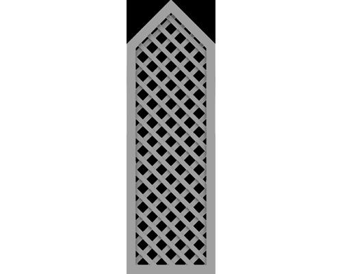 Element partial BasicLine tip P 70 x 215/180 cm, gri argintiu
