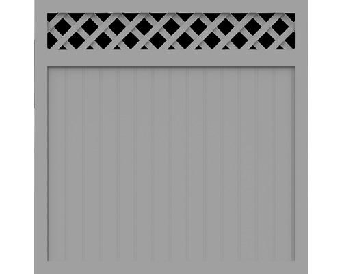 Element principal BasicLine tip O 150 x 150 cm, gri argintiu