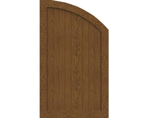 Element de extremitate BasicLine tip R dreapta 70 x 120/90 cm, Golden Oak
