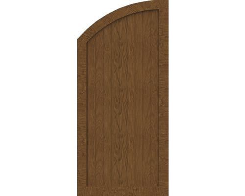 Element de extremitate BasicLine tip Q stanga 70 x 150/120 cm, Golden Oak