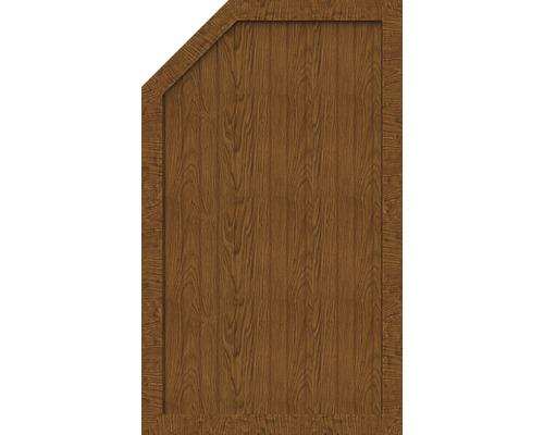 Element de extremitate BasicLine tip L stanga 70 x 150/120 cm, Golden Oak