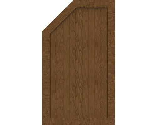 Element de extremitate BasicLine tip M stanga 70 x 120/90 cm, Golden Oak