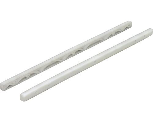 Glisiere simple tip sina Hettich 268x16x19 mm, plastic alb, 1 pereche
