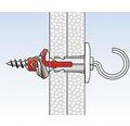 Dibluri plastic cu cârlig rotund Fischer DuoPower 6x30 mm, 6 bucăți