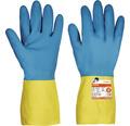 Manusi de protectie Cerva Caspia din latex & neopren albastru/galben, marimea 8