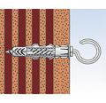 Dibluri plastic cu carlig rotund Fischer UX 8x50 mm, pachet 4 bucati