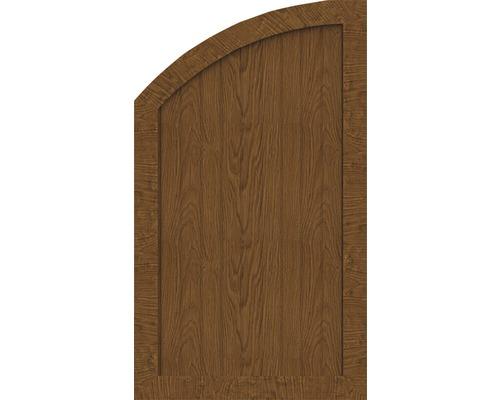 Element de extremitate BasicLine tip R stanga 70 x 120/90 cm, Golden Oak