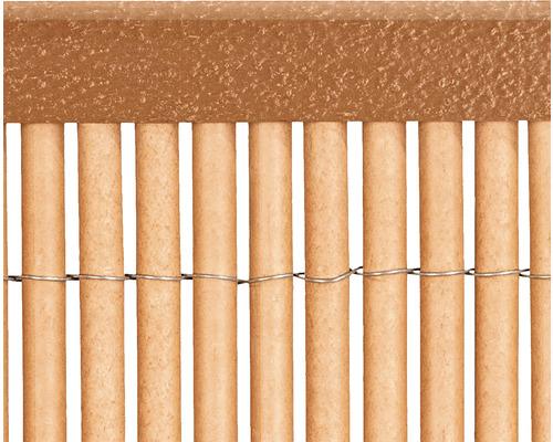 Profil U din PVC 1,5 m, teak