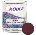 Email anticoroziv cu efect de lovitura de ciocan Köber hammer rosu Bordeaux 0,75 l