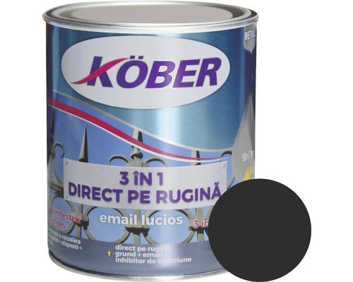 Email lucios anticoroziv 3 in 1 Köber negru 0,75 l