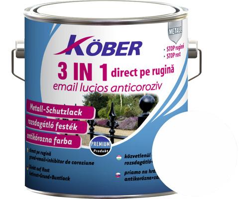 Email lucios anticoroziv 3 in 1 Köber alb 2,5 l