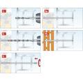 Suruburi montaj rame/tocuri Tox Window Pro 7,5x182 mm otel zincat, pentru tamplarie PVC, 100 bucati