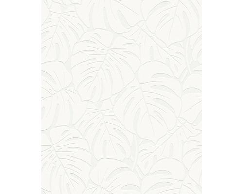 Tapet vlies 9375 Patent Decor, model frunze, alb 25x1,06 m