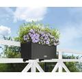 Jardinieră Lechuza Balconera Cottage, plastic, 50x19x19 cm, granit