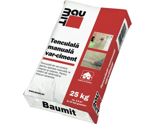 Tencuiala Baumit manuala din var ciment pentru interior si exterior 25 kg