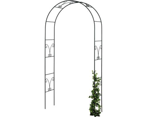 Arc trandafiri Ronja, otel, 36x106x240 cm, negru