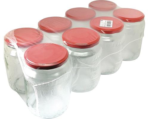Set 8 borcane cu capac 720 ml