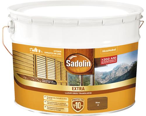 Lazura pentru lemn Sadolin Extra nuc 10 l