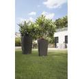 Ghiveci tip vază Lechuza Cubico Cottage plastic 30x30x56 cm, gri