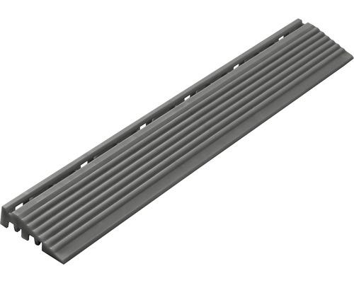 Element lateral pentru pavaj click 1,8x6,2 cm 4 bucăți, gri închis