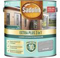 Lazură lucioasă pe bază de apă Sadolin Extra Plus 3 în 1 gri grafit 5 l