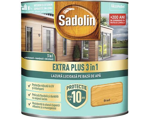 Lazură lucioasă pe bază de apă Sadolin Extra Plus 3 în 1 brad 0,75 l