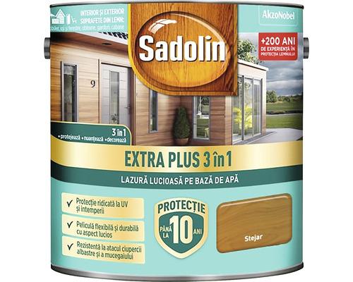 Lazură lucioasă pe bază de apă Sadolin Extra Plus 3 în 1 stejar rustic 5 l