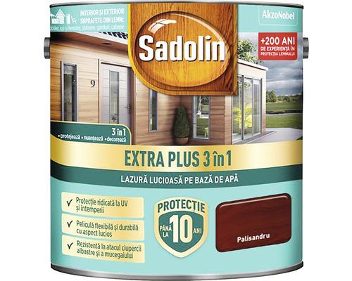 Lazură lucioasă pe bază de apă Sadolin Extra Plus 3 în 1 palisandru 2,5 l