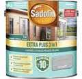 Lazură lucioasă pe bază de apă Sadolin Extra Plus 3 în 1 gri grafit 2,5 l