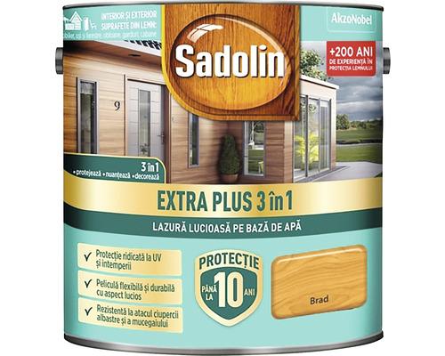 Lazură lucioasă pe bază de apă Sadolin Extra Plus 3 în 1 brad 5 l