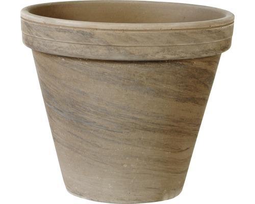 Ghiveci Spang standard, argilă, Ø 18 h 15 cm, bazalt