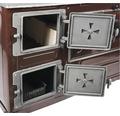 Sobă de gătit Fantazia pe lemne, cu plită și cuptor, 6 kW, 80x75x43,7 cm