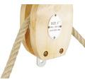 Cârlig cu scripete Mamutec pentru frânghii max. Ø12mm, rolă metalică
