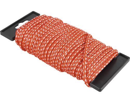 Frânghie polipropilenă Mamutec Paraloc Ø4mm x 20m 250daN, roșu/alb