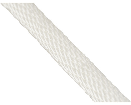 Cordelină poliester Mamutec Paraloc Ø6mm 950daN, albă