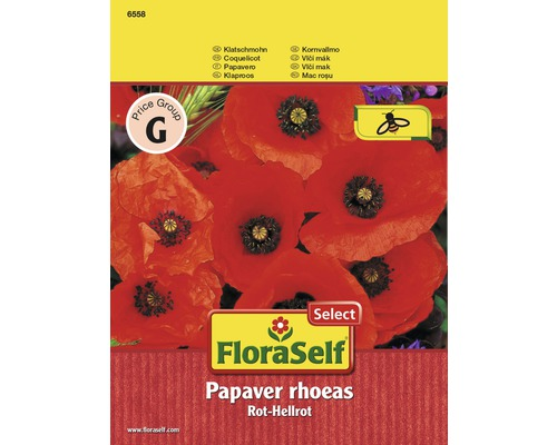 "FloraSelf seminte de mac rosu ""Papaver rhoeas"""