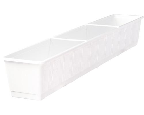 Jardiniera Geli standard, plastic, 100x17x14 cm, alb