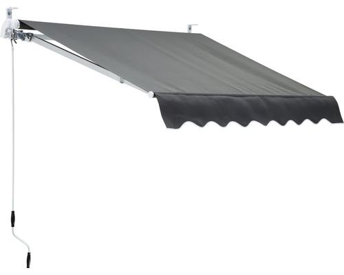 Marchiza/Copertina retractabila manuala cu brat articulat 2x1,5 m poliester gri uni