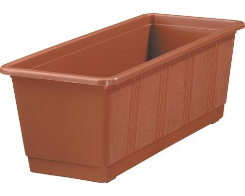 Jardiniera Geli standard, plastic, 40x17x14 cm, caramiziu