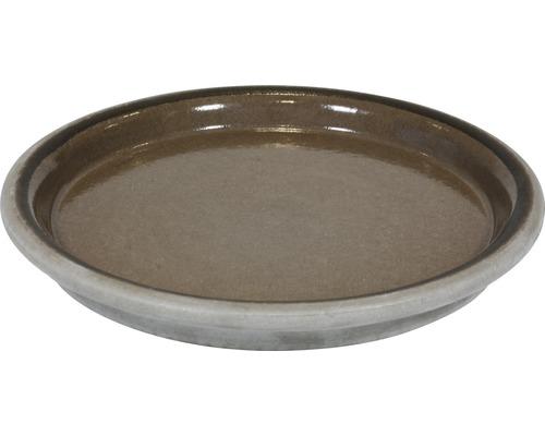 Farfurie ghiveci Spang CKU, argila, Ø 17 cm, bej