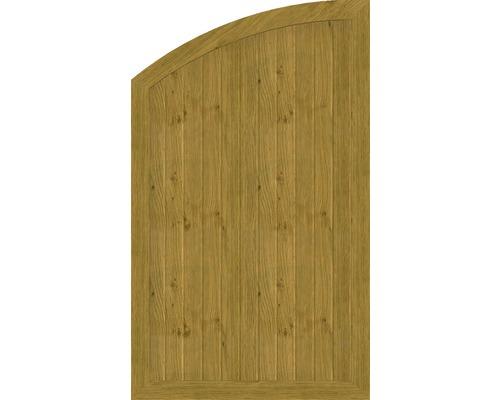 Element de extremitate BasicLine tip Q stanga 90 x 150/120 cm, stejar noduros