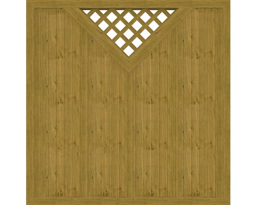 Element principal BasicLine tip B 180 x 180 cm, stejar noduros