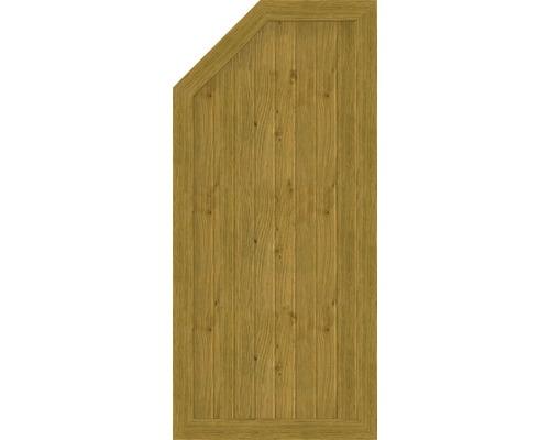 Element de extremitate BasicLine tip L stanga 70 x 150/120 cm, stejar noduros