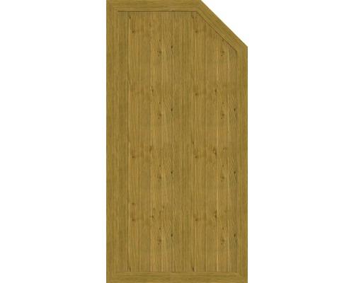 Element de extremitate BasicLine tip E dreapta 90 x 180/150 cm, stejar noduros