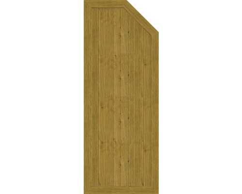Element de extremitate BasicLine tip E dreapta 70 x 180/150 cm, stejar noduros