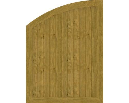 Element de extremitate BasicLine tip R stanga 90 x 120/90 cm, stejar noduros