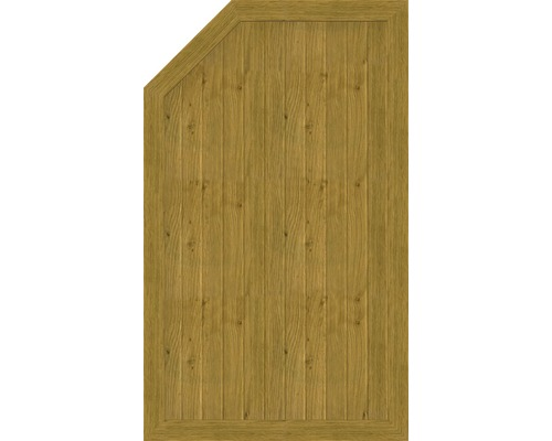 Element de extremitate BasicLine tip L stanga 90 x 150/120 cm, stejar noduros