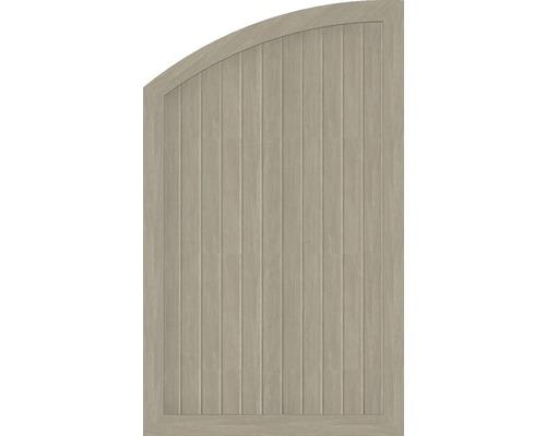 Element extremitate BasicLine tip Q, stanga, 90 x 150/120 cm, Sheffield Oak