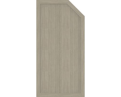 Element extremitate BasicLine tip E, dreapta, 90 x 180/150 cm, Sheffield Oak